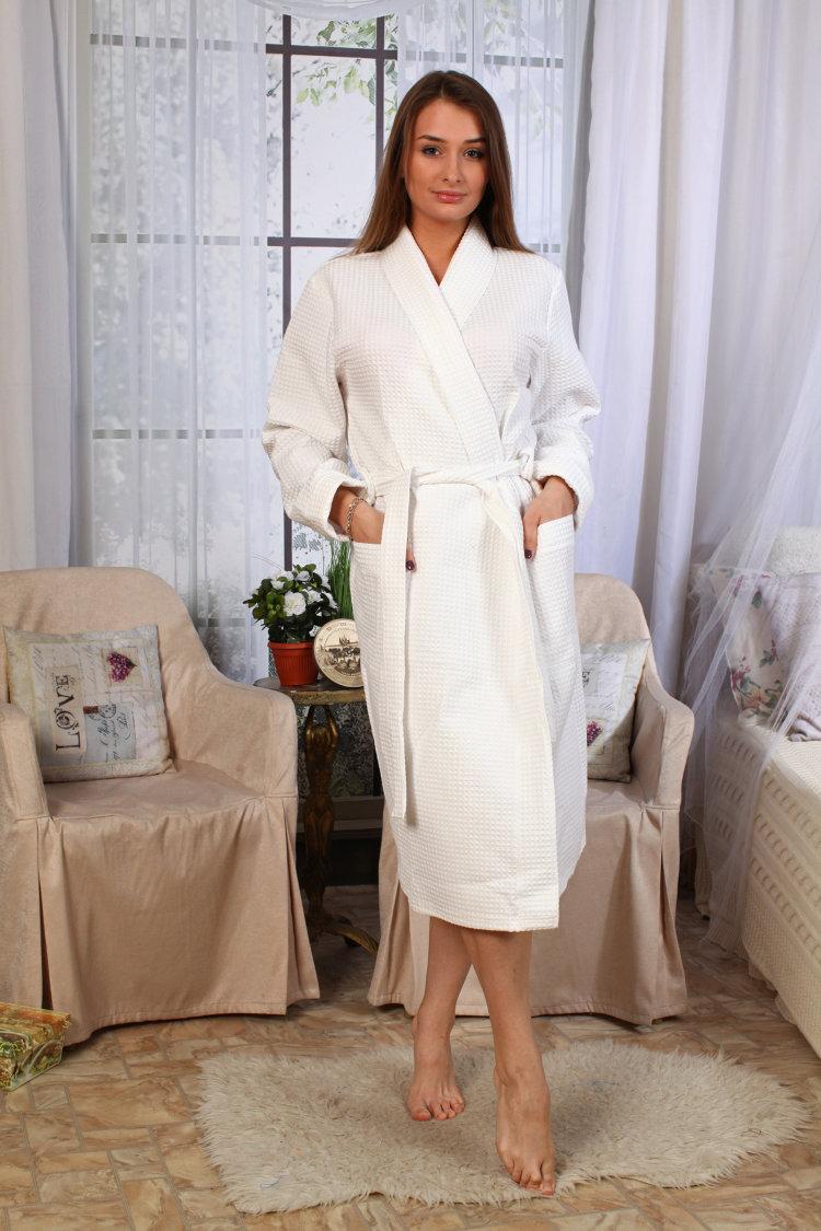 9866aafe13951 Халат вафельный отельный шаль купить оптом в Иваново